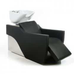 Λουτήρας κομμωτηρίου Flatiron e black με υποπόδιο