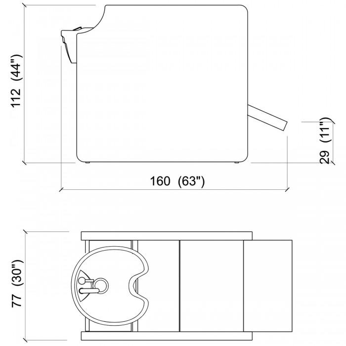Λουτήρας κομμωτηρίου Privacy wash air-shiatsu massage color