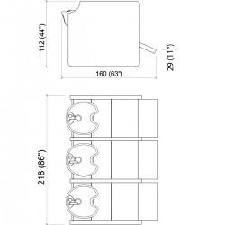 Λουτήρας κομμωτηρίου Privacy wash e triple color με υποπόδιο