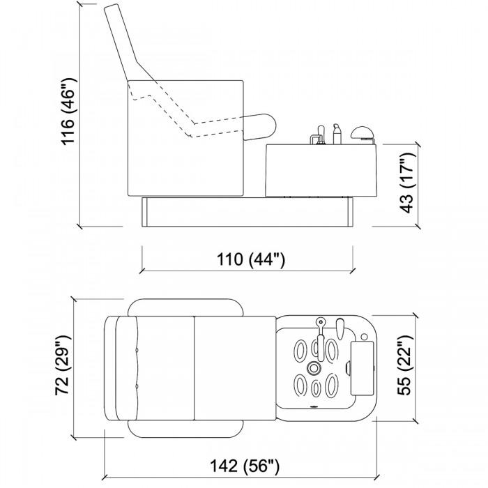 Ποδόλουτρο spa Hydrolounge