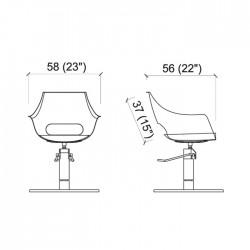 Πολυθρόνα κομμωτηρίου Clara roto