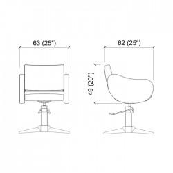 Πολυθρόνα κομμωτηρίου Fifties black parrot
