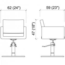 Πολυθρόνα κομμωτηρίου U-shape black roto