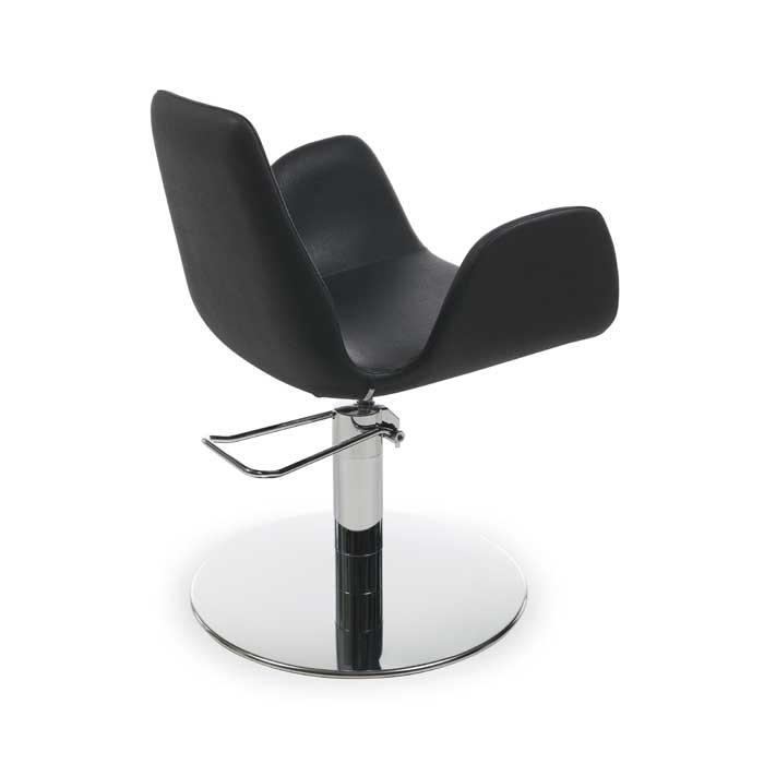 Πολυθρόνα κομμωτηρίου Nysa black roto